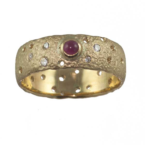 Ruby & Gold Dress Ring