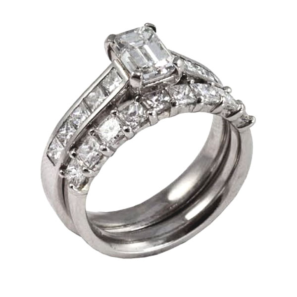 Diamond Engagement & Wedding Ring Set