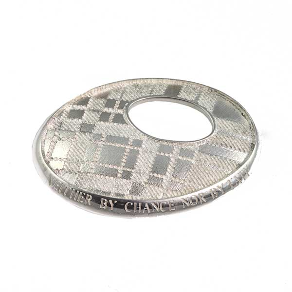 Scottish Tartan Silver Plaid Brooch