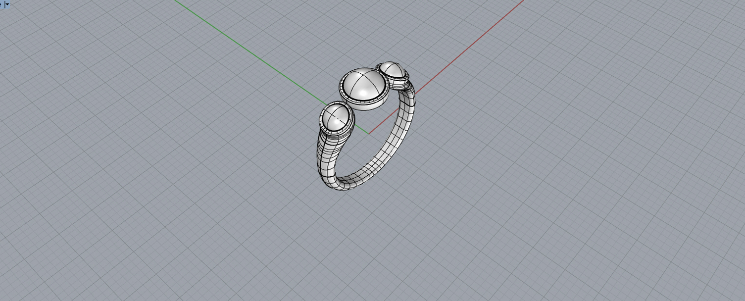 bespoke jewellery design Aberdeen cabouchon shaded - Keyshot 7