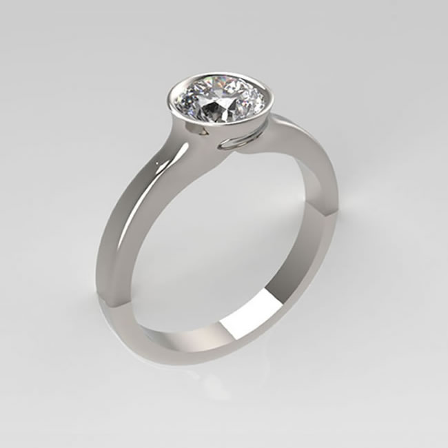 handmade diamond engagement ring